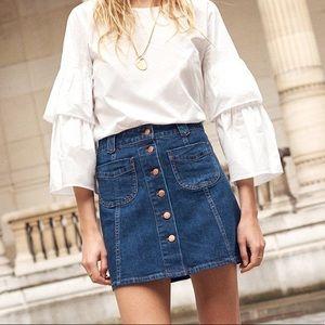Madewell Patch Pocket A-Line Mini Skirt